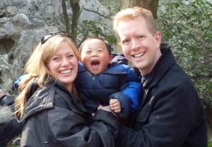 Happy Jacob with His Parents